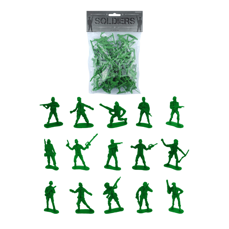 200x speelgoed soldaatjes/soldaten poppetjes 3,5 - 7 cm