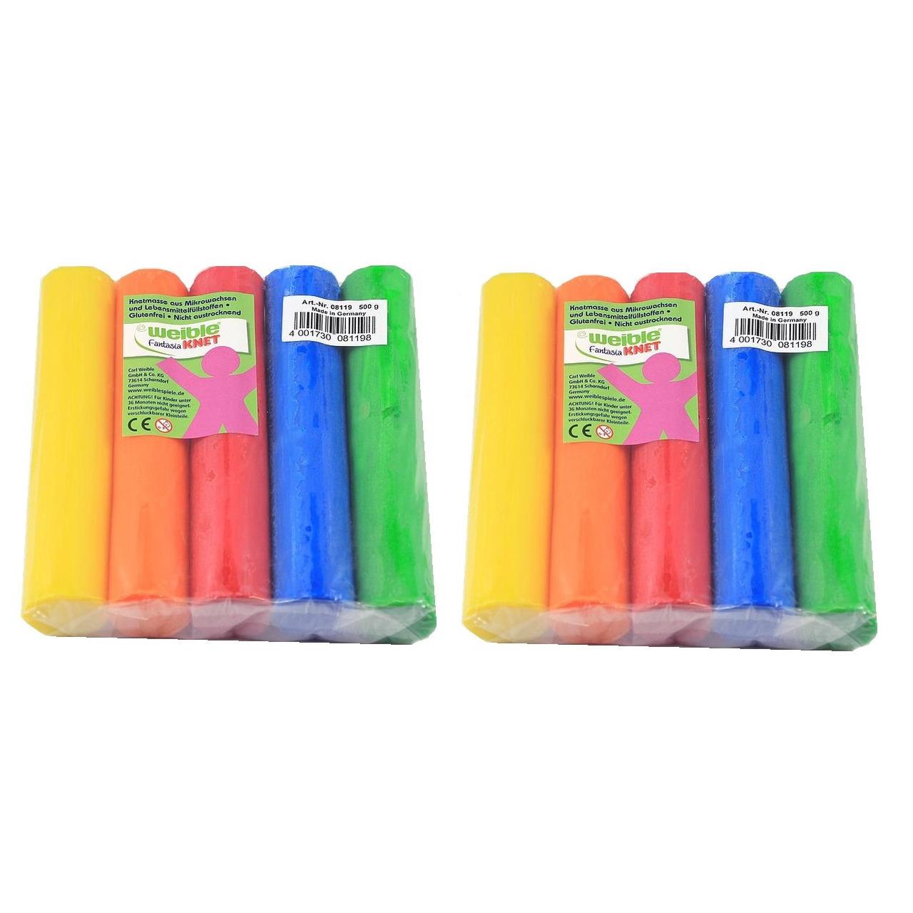 20x gekleurde fantasie klei rollen 100 gram creatief speelgoed voor kinderen