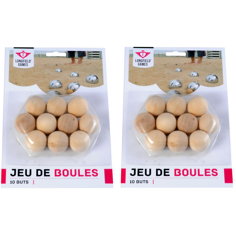 20x jeu de boules/petanque houten cochonnets/buts/markerings reserve balletjes 30 mm buitenspeelgoed