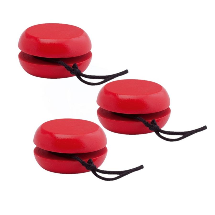 20x stuks houten jojo rood 5 5 cm