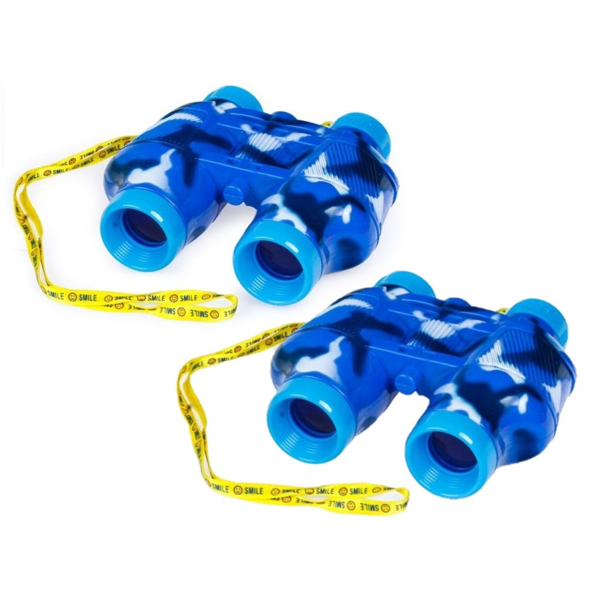 2x stuks kinder speelgoed verrekijkers blauw voor peuters 14 cm