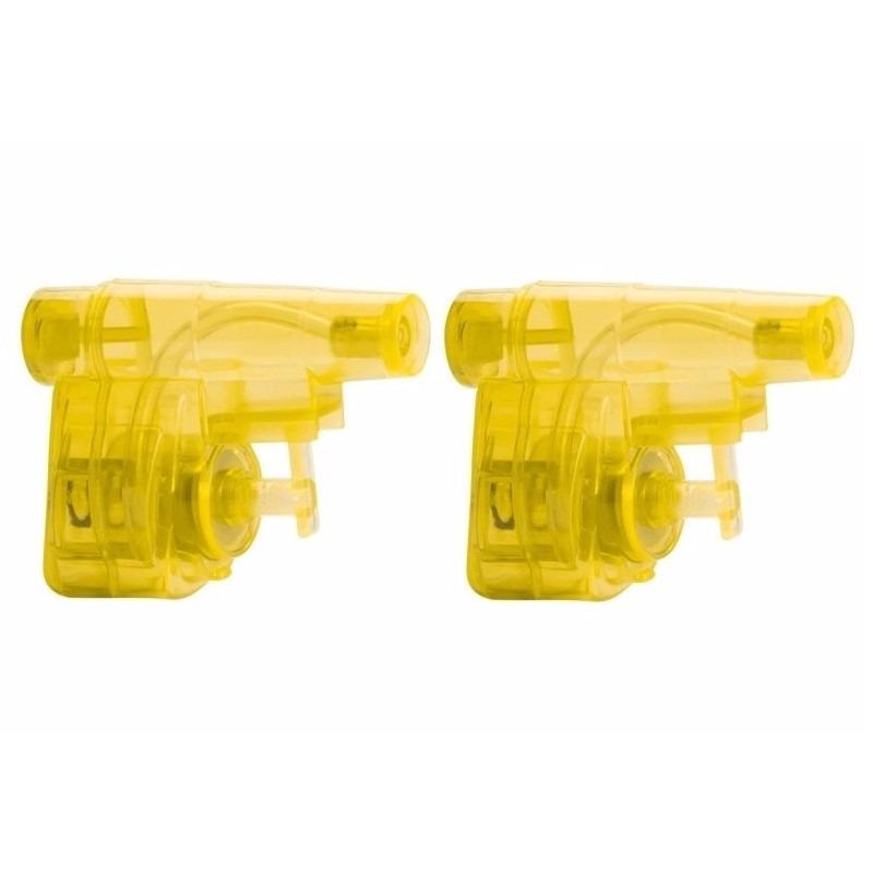 2x stuks goedkope kleine gele waterpistooltjes