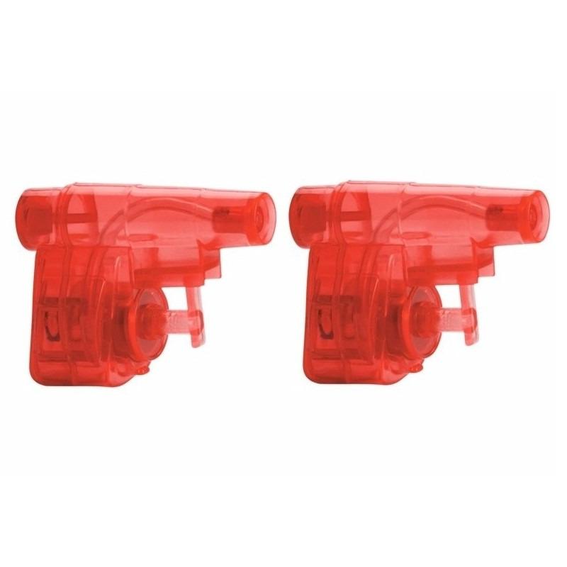 2x stuks goedkope kleine rode waterpistooltjes