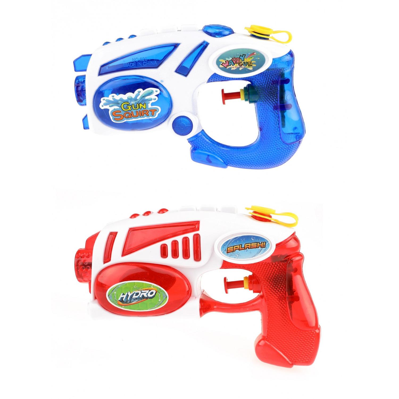 2x waterpistolen waterpistool van 19 cm kinderspeelgoed