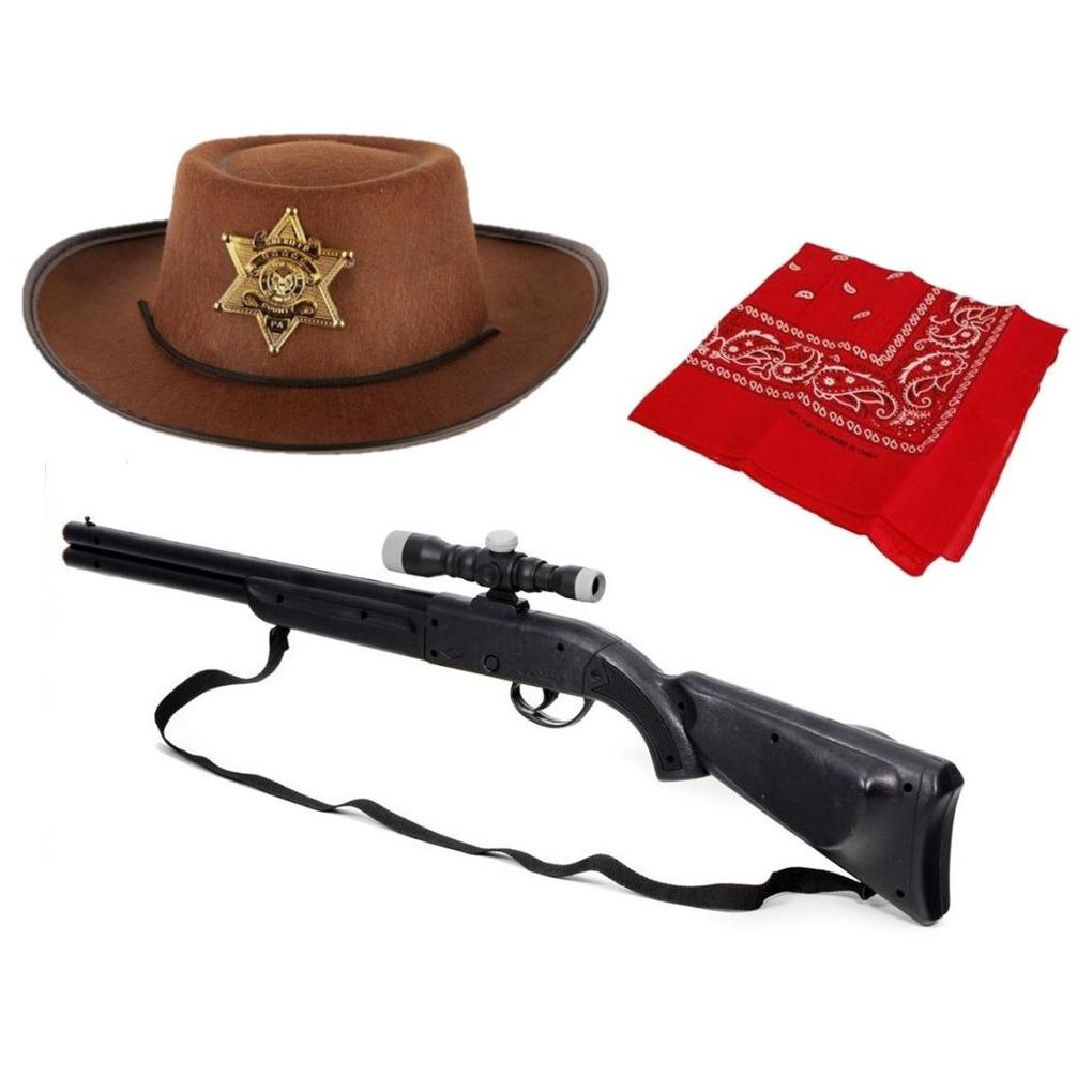 3 delig speelgoed verkleedaccessoires set cowboy voor kinderen
