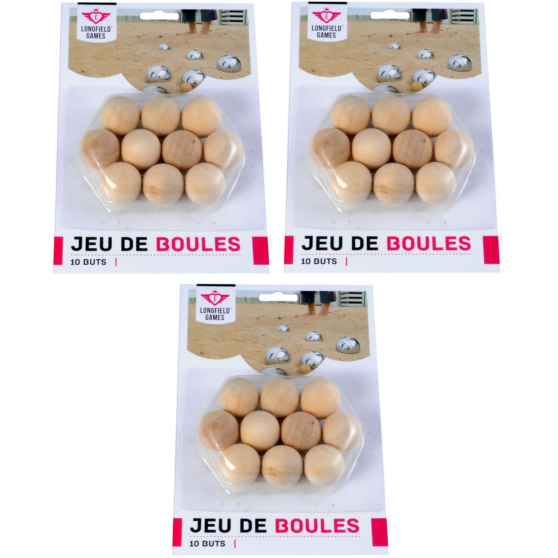 30x jeu de boules petanque houten cochonnets buts markerings reserve balletjes 30 mm buitenspeelgoed