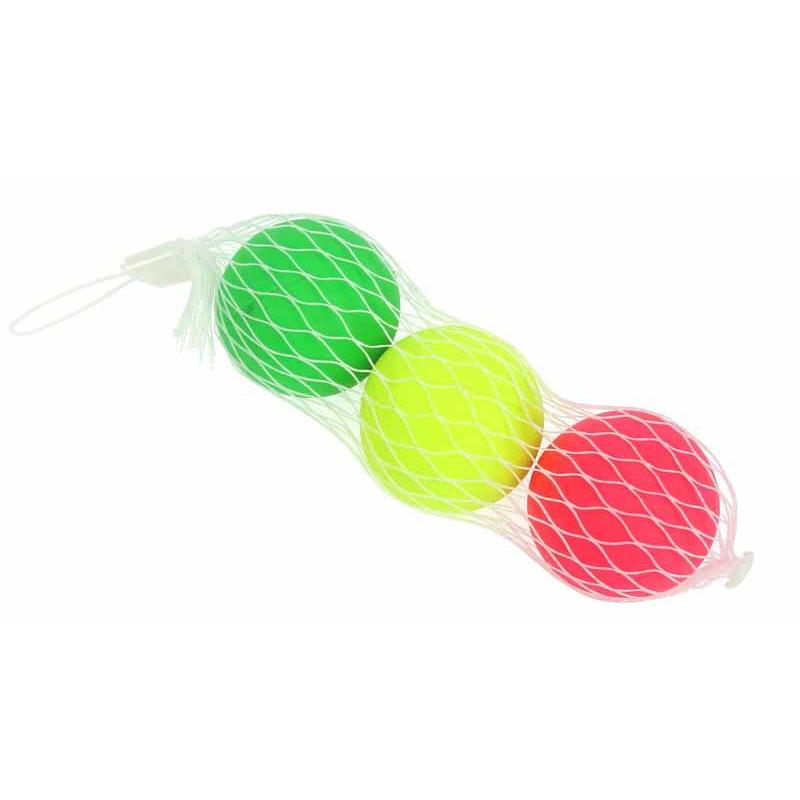 3x gekleurde beachball strand tennis balletjes set buitenspeelgoed