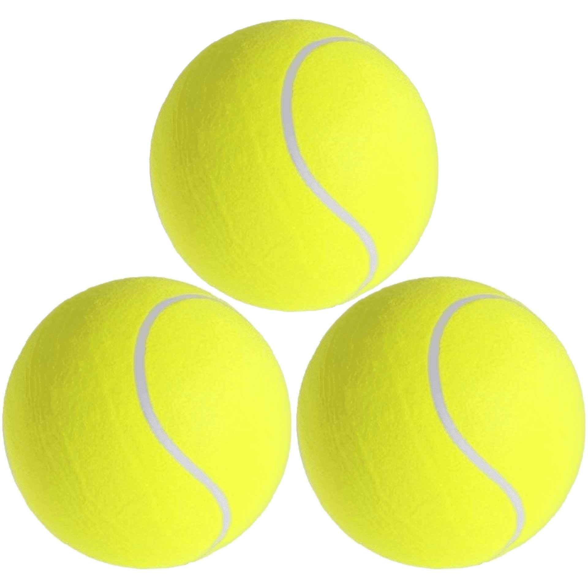 3x grote tennisballen xxl 22 cm buitenspeelgoed