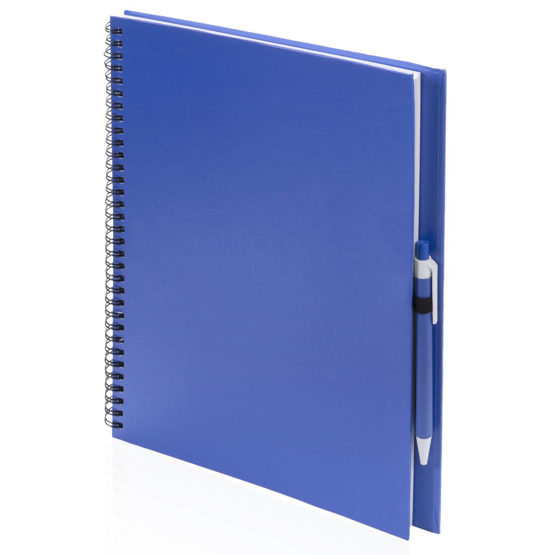 3x tekeningen maken schetsboeken a4 blauwe kaft