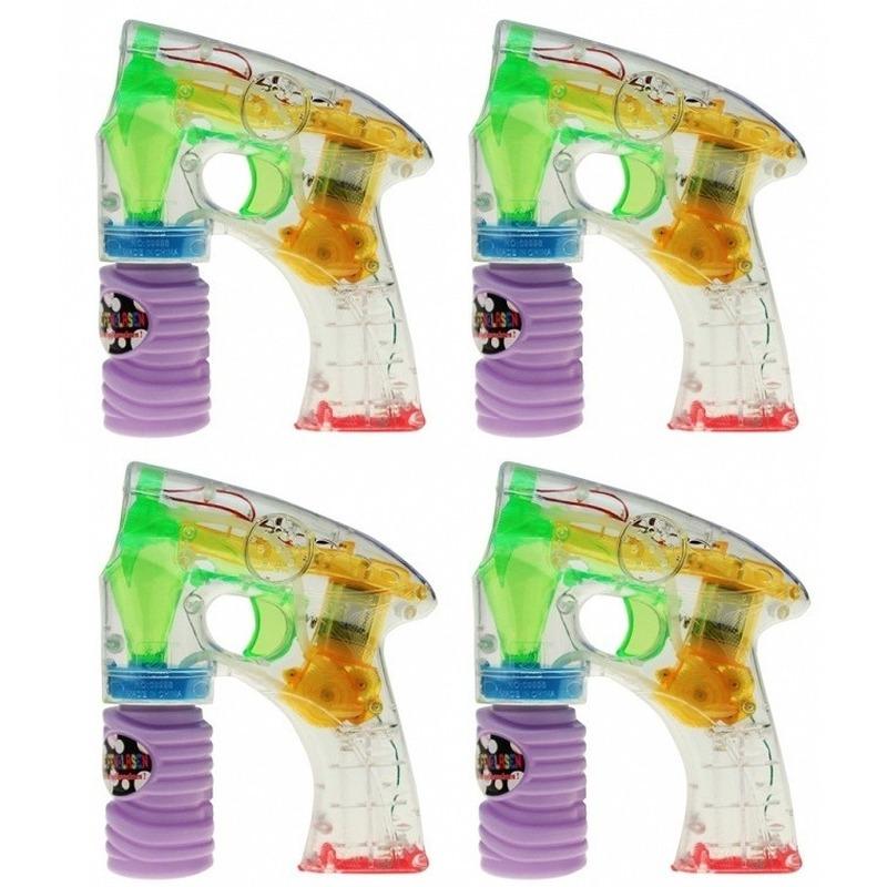 4x bellenblaas led speelgoed pistool