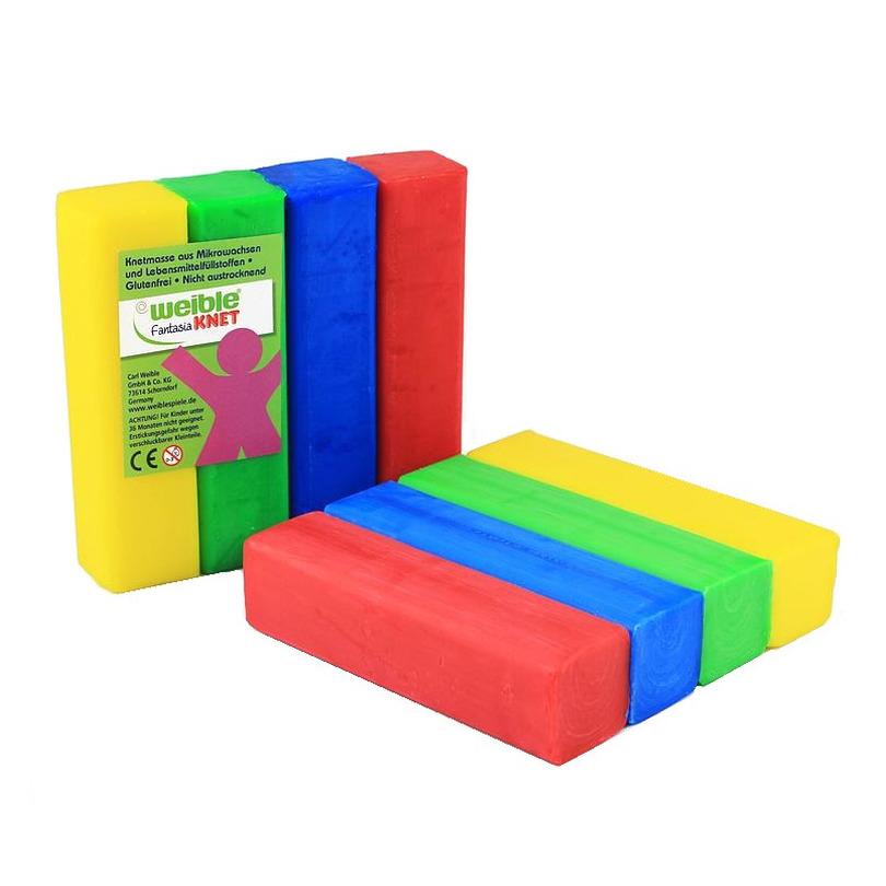 4x gekleurde fantasie klei blokken 100 gram creatief speelgoed voor kinderen
