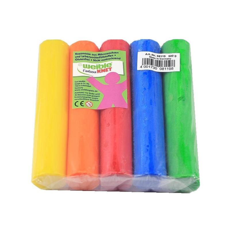 5x gekleurde fantasie klei rollen 100 gram creatief speelgoed voor kinderen