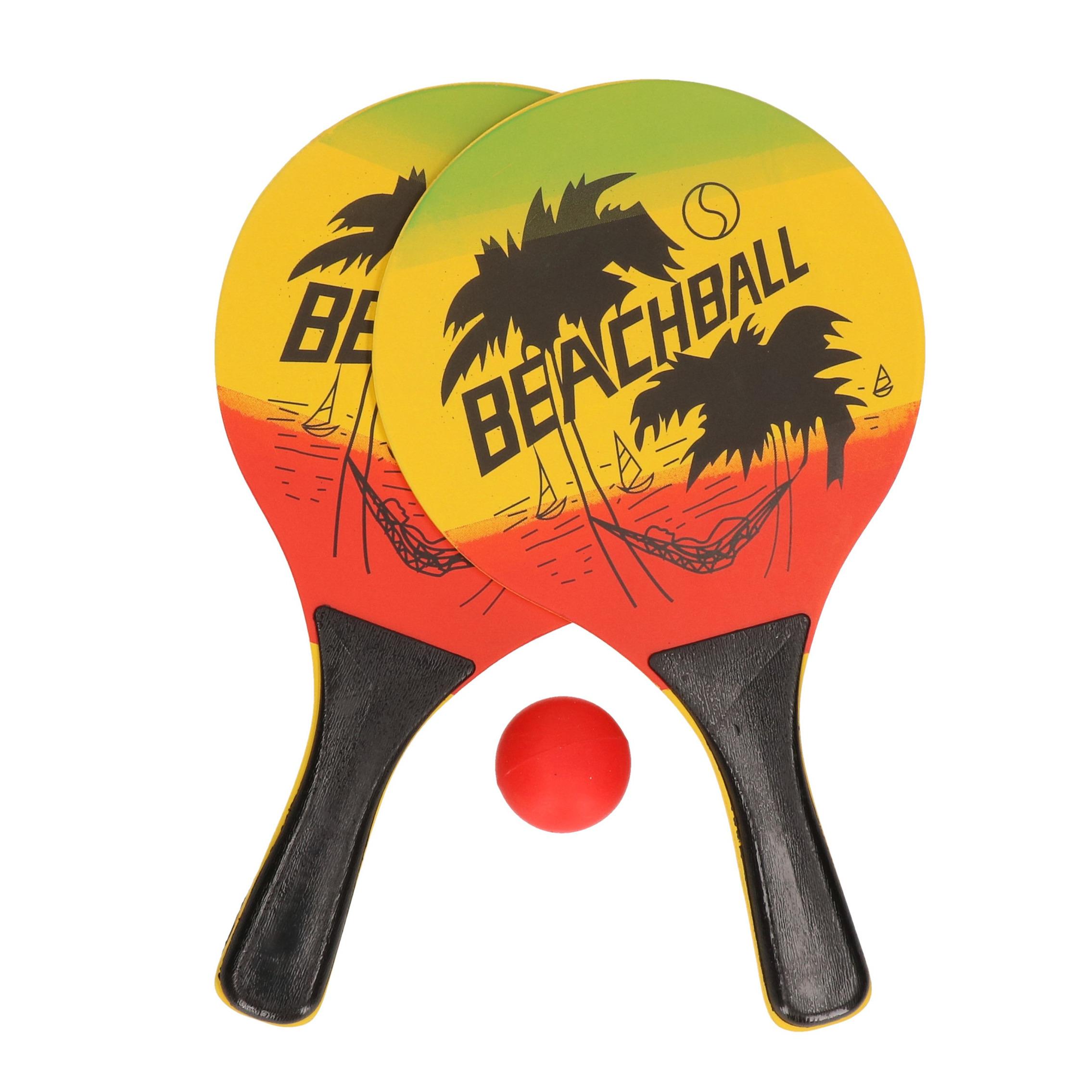 Actief speelgoed tennis/beachball setje geel/zwart