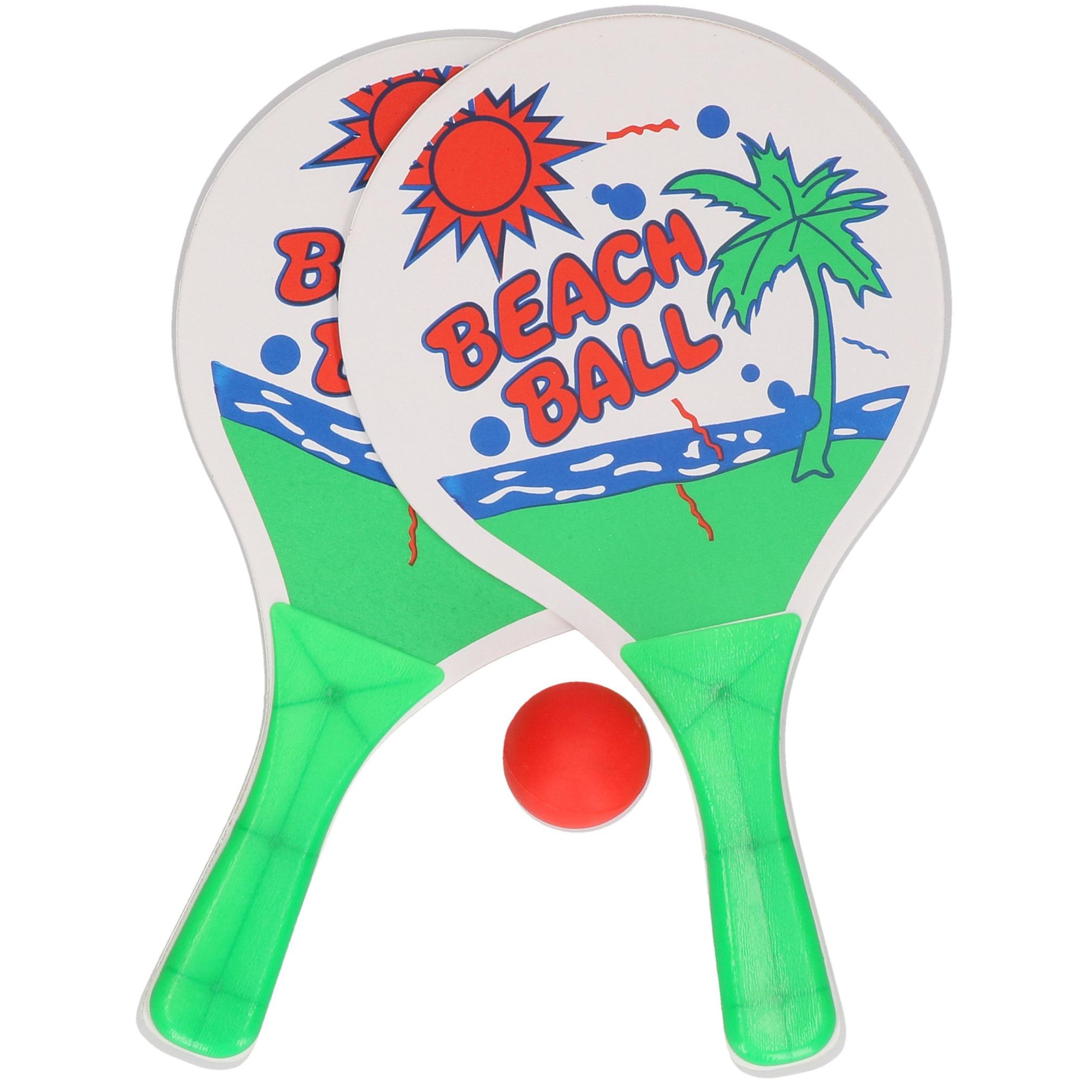 Actief speelgoed tennis beachball setje groen wit 10223392