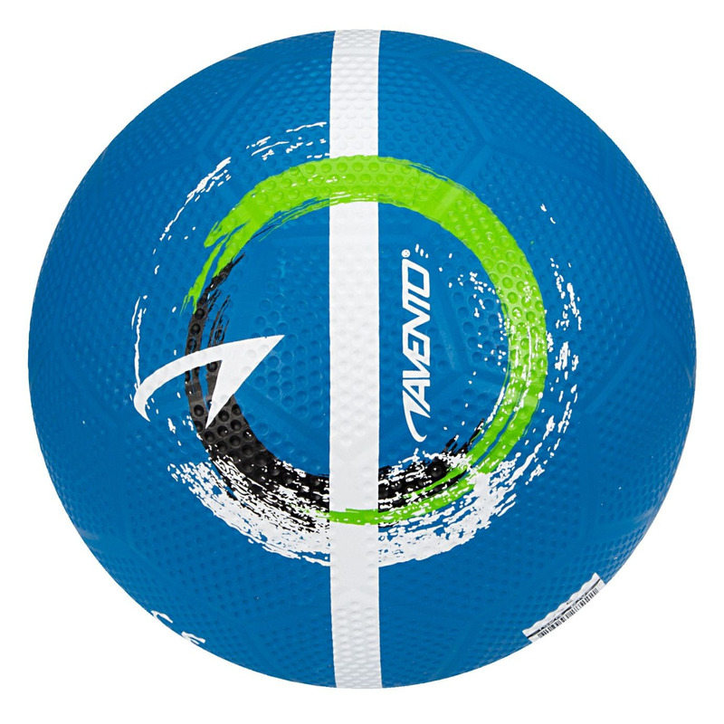 Buitenspeelgoed panna voetbal blauw 21 cm maat 5 voor kinderen volwassenen