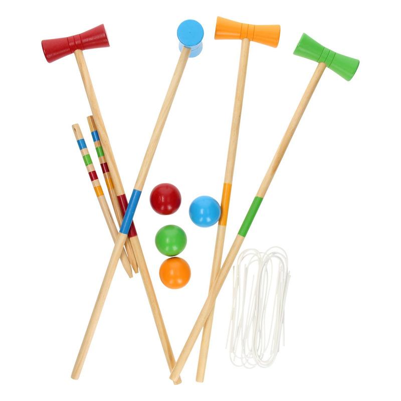 Croquet spel 20 delig buiten speelgoed voor kinderen