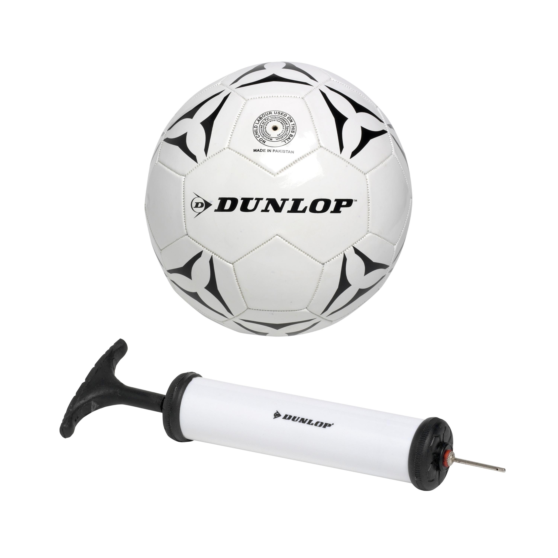 Buitenspeelgoed panna voetbal wit 22 cm maat 5 met balpomp voor kinderen volwassenen