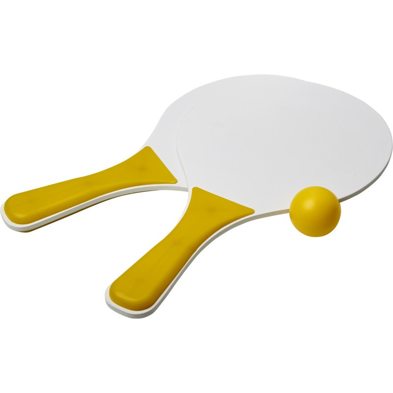 Actief speelgoed tennis beachball setje geel wit