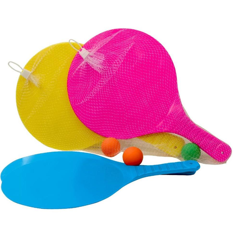 Actief speelgoed tennis beachball setje geel 10208558