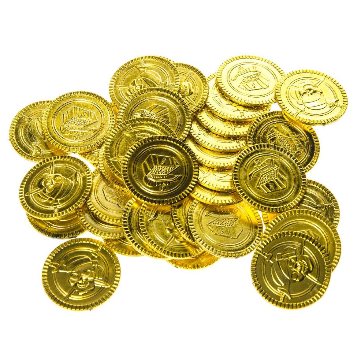 Speelgoed gouden piraat munten 100 stuks