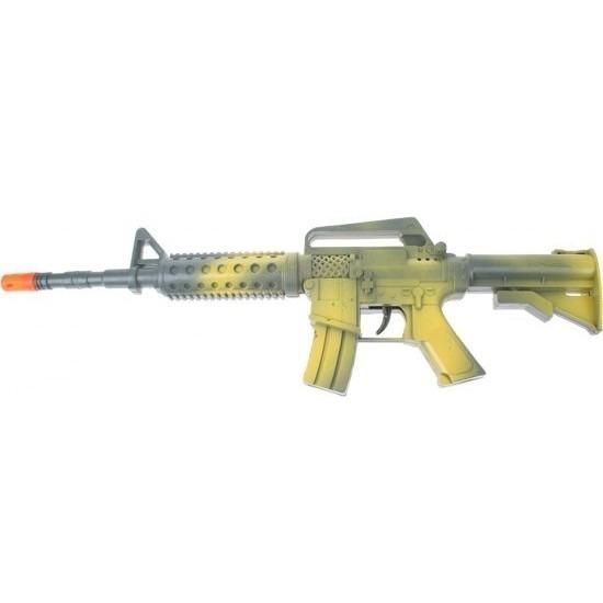 Groen automatisch speelgoed geweer met geluid 46 cm