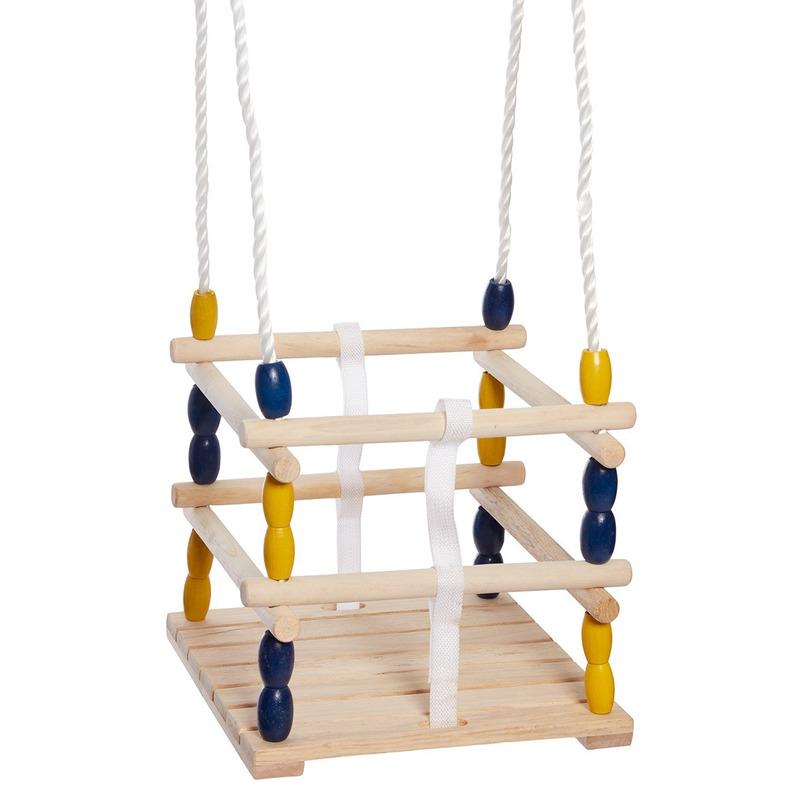 Buitenspeelgoed speeltoestel baby schommel van hout