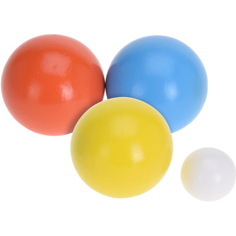 Houten jeu de boules sets met 18 ballen actief speelgoed voor kinderen