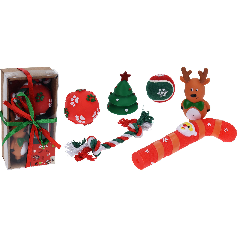 Hondenspeeltjes/honden speelgoed in giftbox