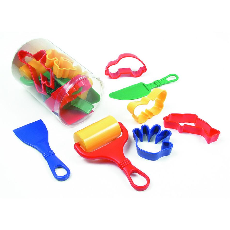 Klei accessoires modelleer set 9 delig creatief speelgoed voor kinderen