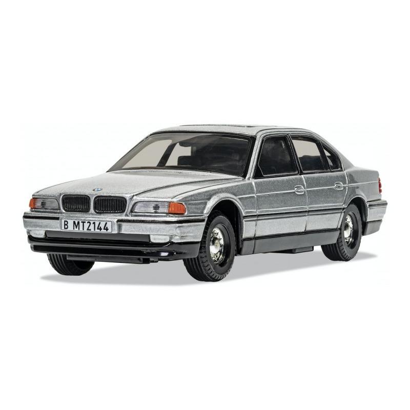 Speelgoedauto bmw 750i james bond schaal 1 36 zilver 14 x 5 x 4 cm