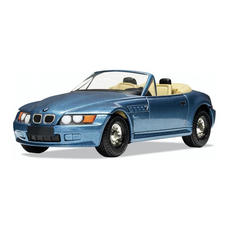 Speelgoedauto bmw z3 james bond schaal 1 36 blauw 11 x 5 x 4 cm