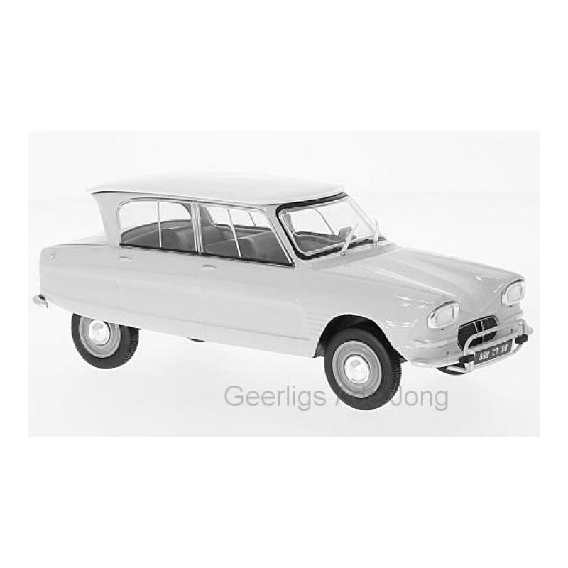 Speelgoedauto citroen ami 6 1961 wit 1 24 16 x 6 x 6 cm