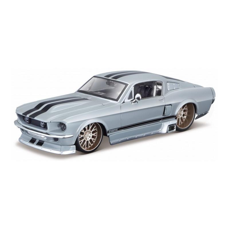 Speelgoedauto ford mustang gt 1967 grijs 1 24 19 x 7 x 5 cm