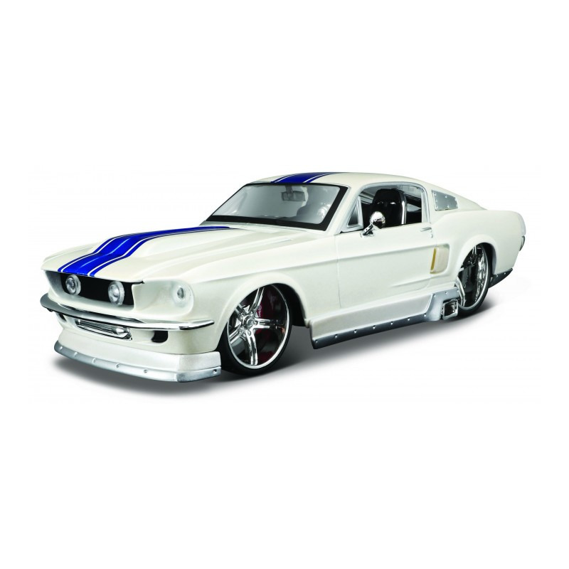 Speelgoedauto ford mustang gt 1967 wit 1 24 19 x 7 x 5 cm
