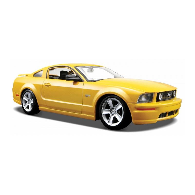 Speelgoedauto ford mustang gt 2006 geel 1 24 20 x 8 x 5 cm