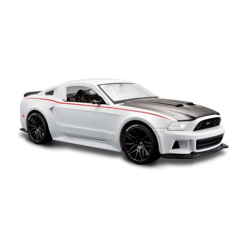 Speelgoedauto ford mustang gt 2014 wit 1 24 20 x 8 x 5 cm