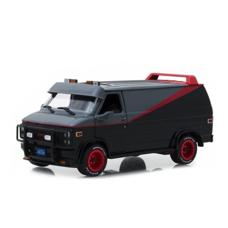 Speelgoedauto gmc vandura 1983 the a team zwart 1 24 19 x 8 x 8 cm