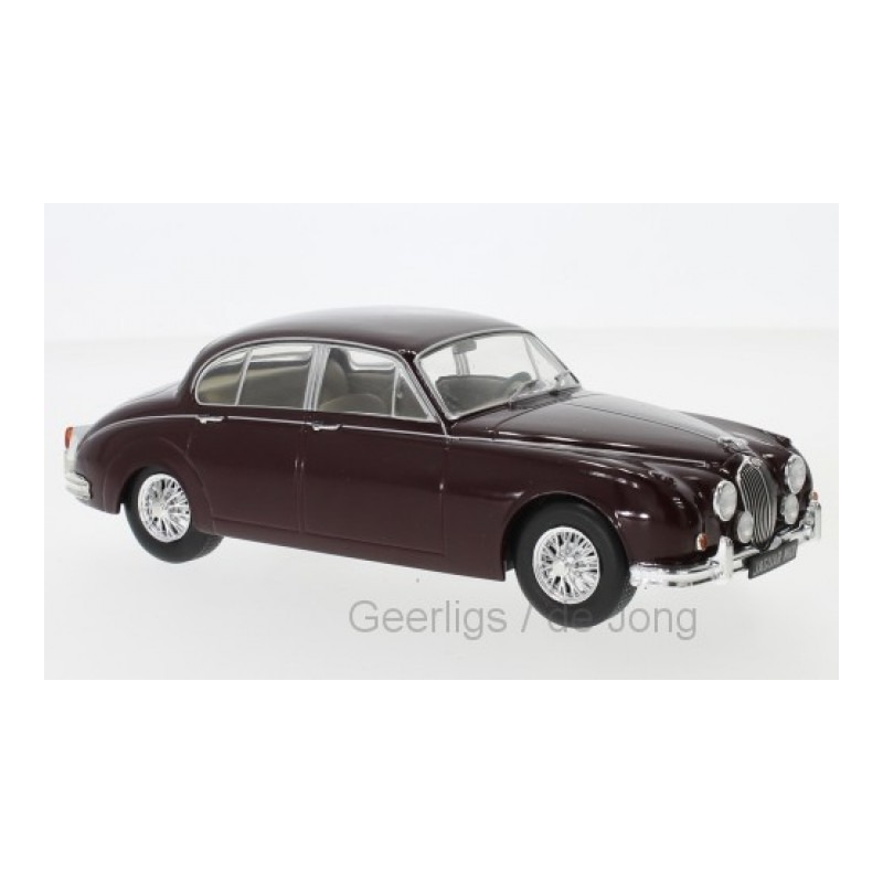 Speelgoedauto jaguar mk ii 1960 donkerrood 1 24 19 x 7 x 7 cm