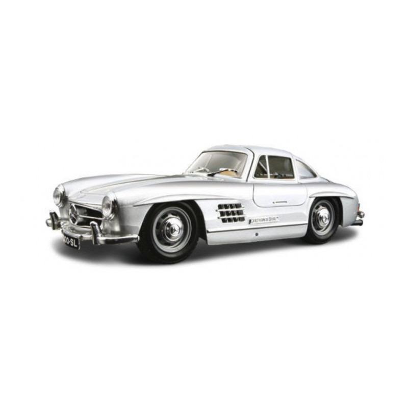 Speelgoedauto mercedes benz 300sl 1954 zilver 1 24 19 x 7 x 5 cm