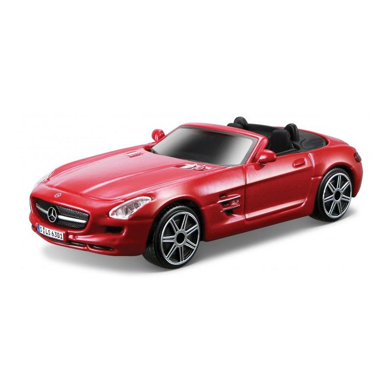 Speelgoedauto mercedes-benz sls amg rood 1:43/11 x 4 x 3 cm