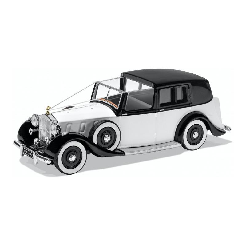 Speelgoedauto rolls royce phantom iii 1937 trouwauto wit 1 36 12 x 7 x 5 cm