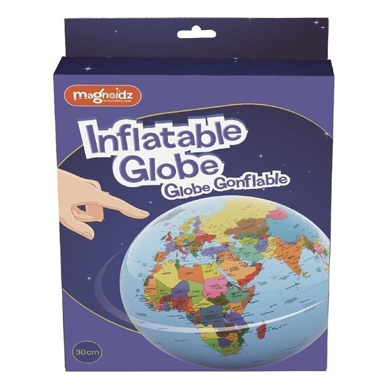 Opblaasbare speelgoed wereldbol globe 30 cm