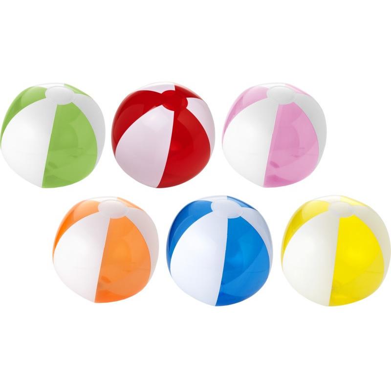 Pakket van 6x stuks opblaasbare gekleurde strandballen 30 cm waterspeelgoed