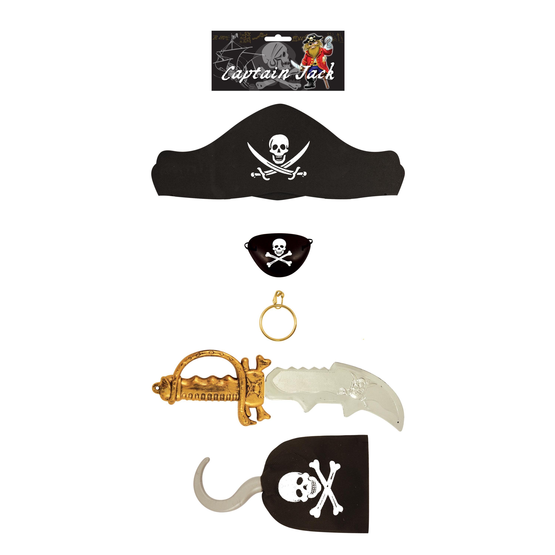 5 delige piraten speelgoed verkleedset