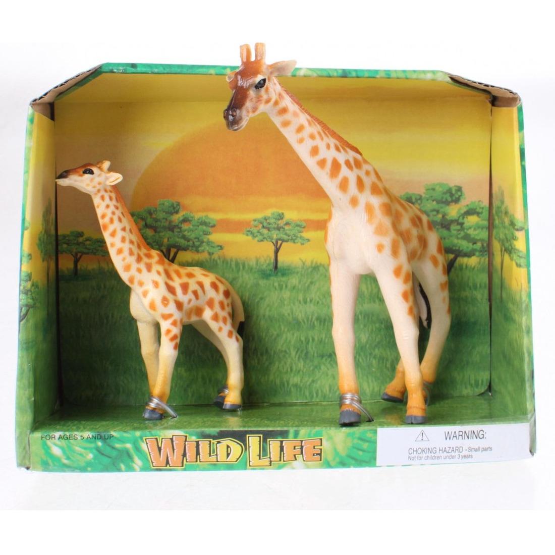 Plastic giraffe met kalf speelgoed voor kinderen