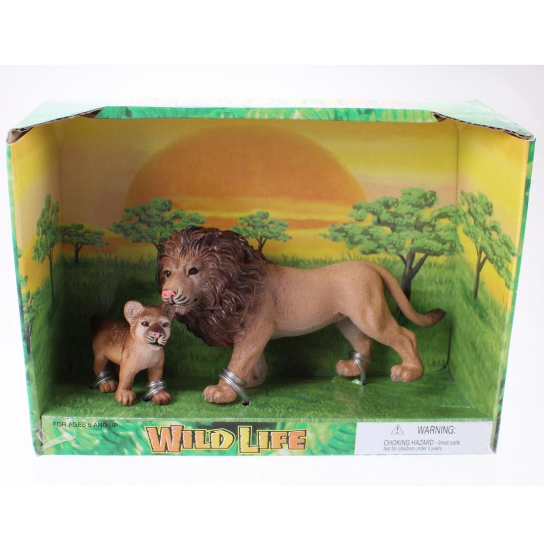 Plastic leeuw met welp speelgoed voor kinderen