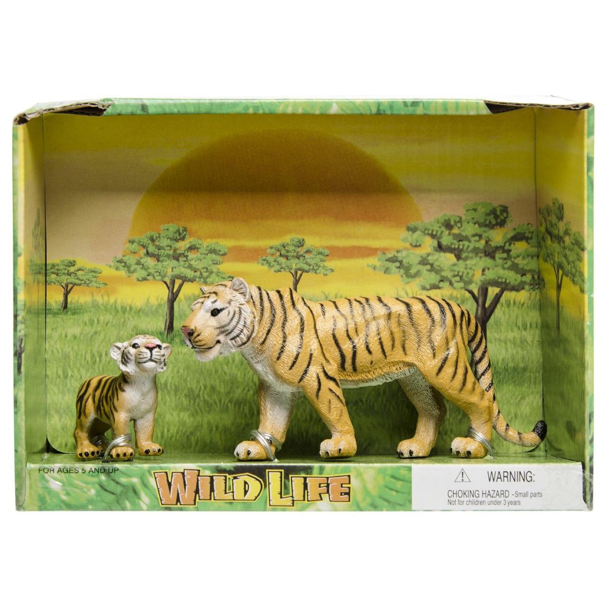 Plastic tijger met welp speelgoed voor kinderen