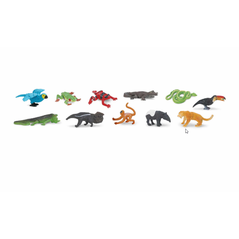 Speelgoed tropische woud dieren 11 stuks