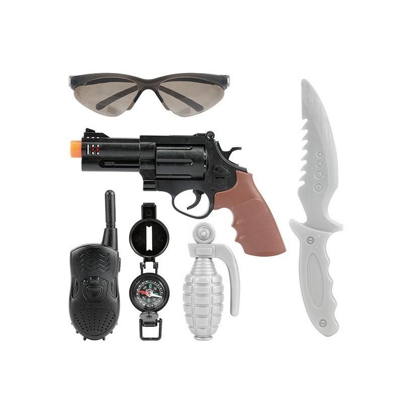 Speelgoed politie pistool wapen set 6 delig
