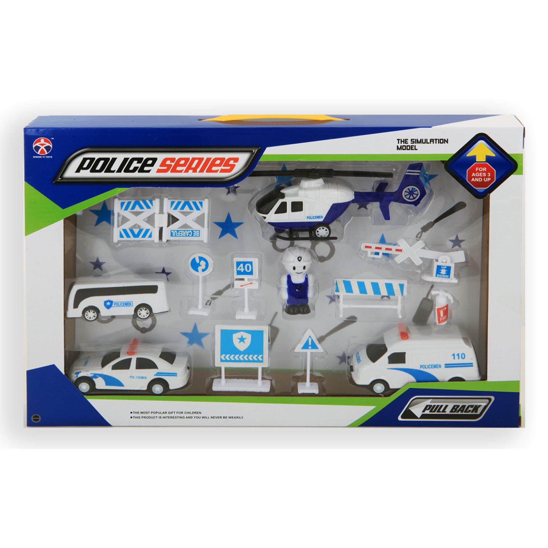 Speelgoed set politie thema 13 delig voor kinderen
